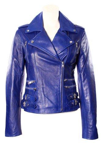 Smart Range Women's Mystique Vintage Retro Motorcycle Designer Leather Jacket