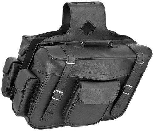 River Road Zip-Off Slant X-Large Saddlebags Classic Black