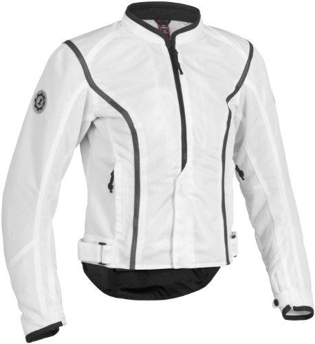 Firstgear Contour Mesh Women's Textile Motorcycle Jacket (white, Medium)