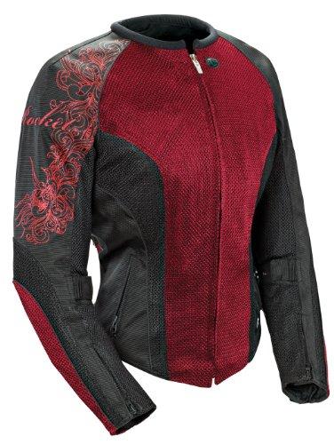 Joe Rocket Cleo 2.2 Women's Mesh Motorcycle Riding Jacket (wine/black/black, Small)