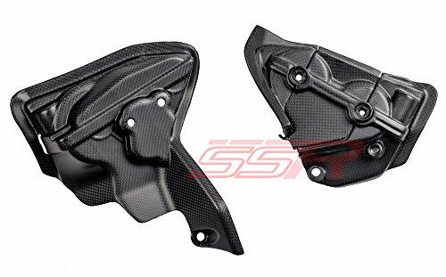 Ducati 1199 1199S 1199R Tricolore Panigale 1299 Matte Flat Satin Carbon Fiber Engine Cylinder Fairing Cover Panels Same Weave Pattern Matte Finish as Ducati DP Carbon