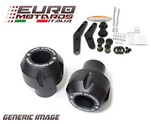 Aprilia SL 750 Shiver 2008-2014 RD Moto Crash Frame Sliders Protectors With Full Mounting Kit Black