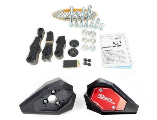 Honda CBR 125 2004-2010 RD Moto Crash Frame Sliders Protectors With Full Mounting Kit SL01 BlkRed