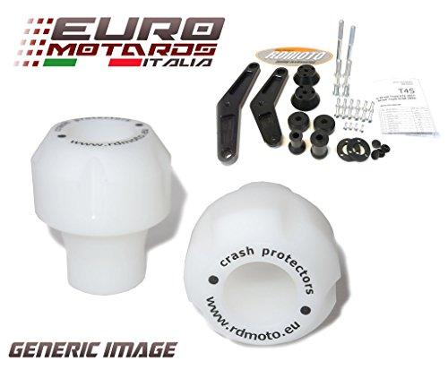 MV Augusta Brutale 675 800 2013-2015 RD Moto Crash Frame Sliders Protectors With Full Mounting Kit White