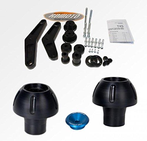 Suzuki GSXR 600-750 2008-2010 RD Moto Crash Frame Sliders Protectors With Full Mounting Kit PHV1 BlkBlu