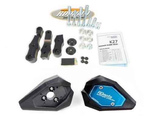 Yamaha R1 2007-2008 RD Moto Crash Frame Sliders Protectors With Full Mounting Kit SL01 BlkBlu