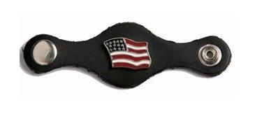 Billys Biker Gear American Flag Leather Vest Extender Set of 4