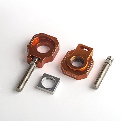 Mojo MOJO-KTM-20AB Anodized Orange 20mm CNC Billet Axle Block