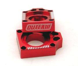 Outlaw Racing Billet Axle Blocks Red Yamaha