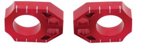 ZETA Red Axle Blocks Pair For Kawasaki KX 85 100 01-16 ZE93-5133