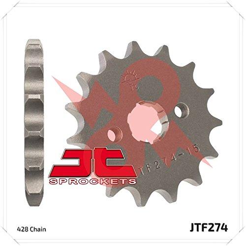 JT Sprockets Steel Front Sprocket - 15T  Sprocket Teeth 15 Color Natural Sprocket Size 428 Sprocket Position Front Material Steel JTF27415