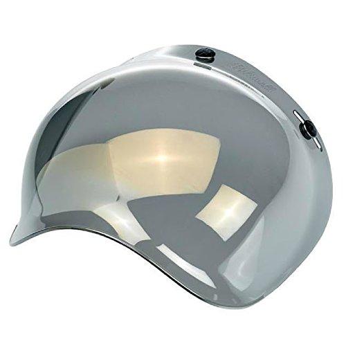 Biltwell Lite Mirror Bubble Shield Chopper Bobber Fulmer Bell Face Shield 3/4 Helmet