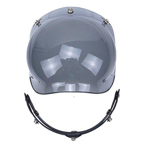 Motorcycle Helmet Bubble Shield With Flip Adapter (smoke)