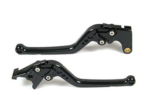 Emotion Performance-STD-Series Motorcycle Clutch Brake Lever Set for Triumph BONNEVILLE  SE  T100  Black 2006-2015 - Black  Black AdjusterLever