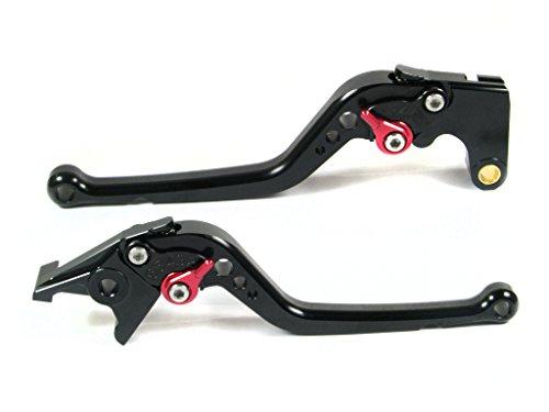 Emotion Performance-STD-Series Motorcycle Clutch Brake Lever Set for Yamaha R6S USA VERSION 2006-2009 - Red  Black AdjusterLever
