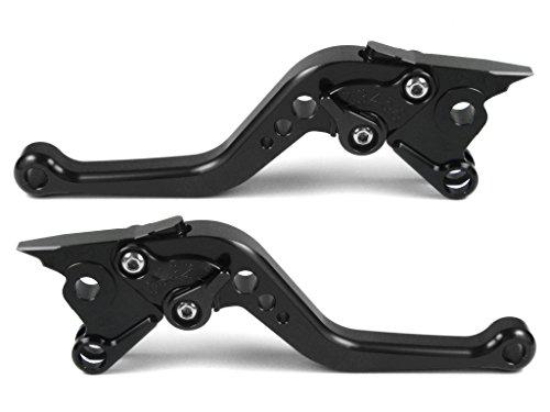 Emotion Performance-STD-Short-Series Motorcycle Clutch Brake Lever Set for Triumph THRUXTON Steve McQueen SE 2012 - Black  Black AdjusterLever