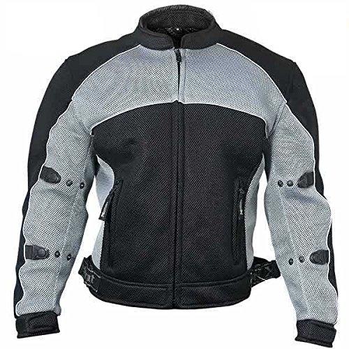 Xelement CF511 Mens Black Armored Mesh Sports Jacket - X-Large