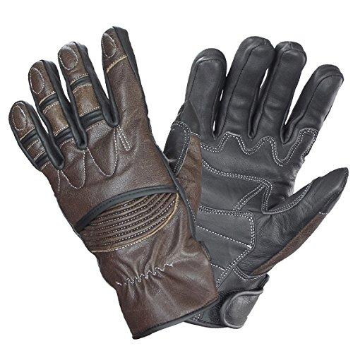 Xelement UK2678 Vagabond Mens BrownBlack Leather Gloves - X-Large