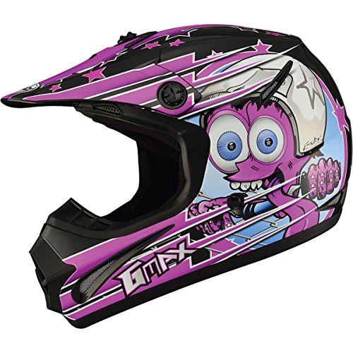 GMAX GM462 Superstar Youth Boys Motocross Motorcycle Helmet - BlackPurple  Medium