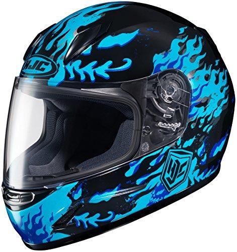 HJC 0819-2902-56 CL-Y Flame Face Youth Helmet  Distinct Name MC-2 Gender Boys Helmet Category Street Helmet Type Full-face Helmets Primary Color Blue Size Lg Size Segment Youth