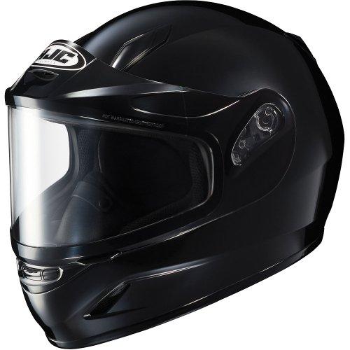HJC Solid Youth Boys CL-Y Sport Racing Snowmobile Helmet - Black  Large