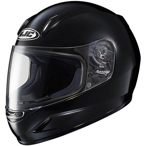 HJC Solid Youth Boys CL-Y Sportsbike Motorcycle Helmet - Black  Small