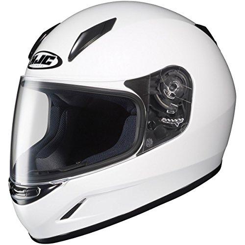 HJC Solid Youth Boys CL-Y Sportsbike Motorcycle Helmet - White  Large