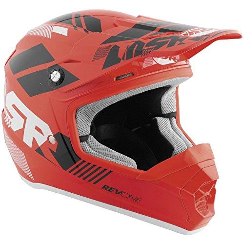 MSR Racing Rev One Helix Youth Boys Off-RoadDirt Bike Motorcycle Helmet - RedBlack  Large
