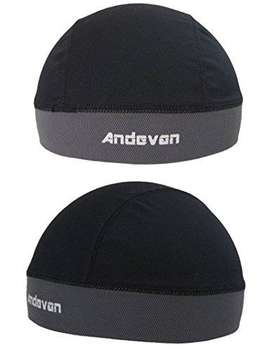 Andevan Helmet Liner Coolmax Fabric Skull Cap Style (pack Of 2 Pcs)