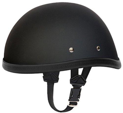 Daytona Eagle Flat Black Skull Cap Novelty Motorcycle Helmet [medium]