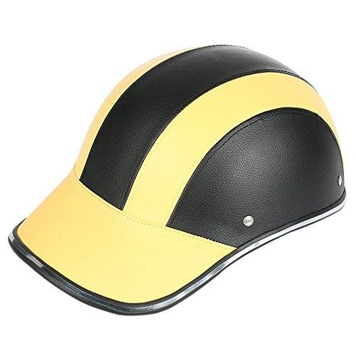 Frenshion Motorcycle Vespa Helmet Summer Baseball Cap Style Open Half Face Women Men Adult Adjustable Strap Harley