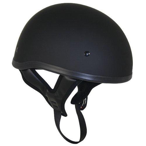 Outlaw Skull Cap Helmet - Flat Black - Xxl
