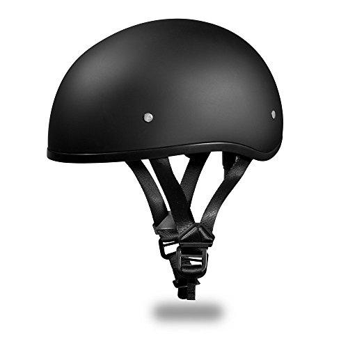 Skull Cap (premium-pack) Style Motorcycle Helmet By Daytona Helmets *d.o.t. Approved *dull Black *half (1/2) Shell