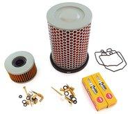 Tune Up Kit - Honda CX500 1980-1981 - Air Oil Filter Spark Plugs Carb Rebuild