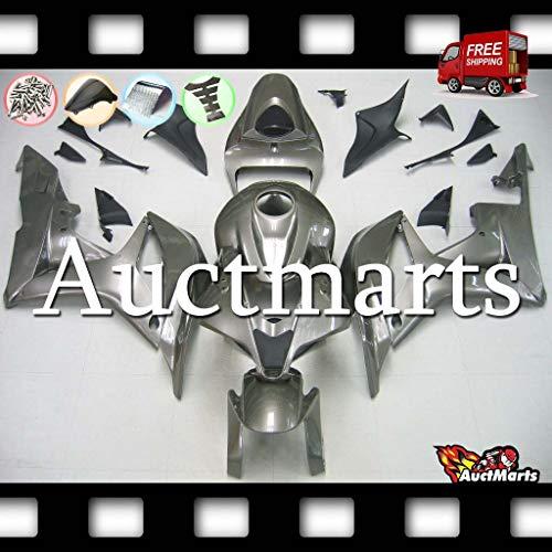 Auctmarts Injection Fairing Kit ABS Plastics Bodywork with FREE Bolt Kit for Honda CBR600RR CBR 600 RR 2007 2008 Grey Gray Titanium PN1h91