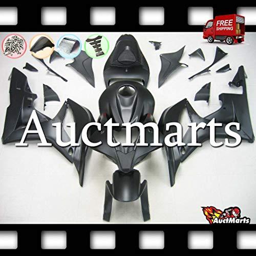 Auctmarts Injection Fairing Kit ABS Plastics Bodywork with FREE Bolt Kit for Honda CBR600RR CBR 600 RR 2007 2008 Matt Black PN1h92