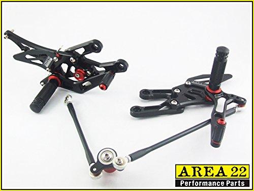 Area 22 Adjustable Rear Sets for Honda CBR600RR 03-06 Black rearset