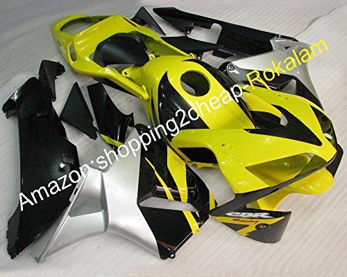 Hot SalesFor Honda 2003 2004 CBR 600 RR F5 CBR600 RR CBR 600RR CBR600RR 03 04 Yellow black Silver Moto Fairing Body Kit Injection molding