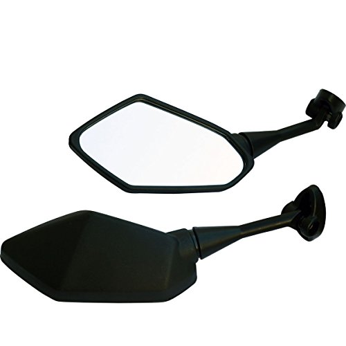 One Pair Black Sport Bike Mirrors for 2011 Yamaha YZF R1