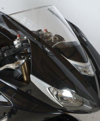 R&G Racing Mirror Block Off Plates for Triumph Daytona 675 2013 MBP0015BK