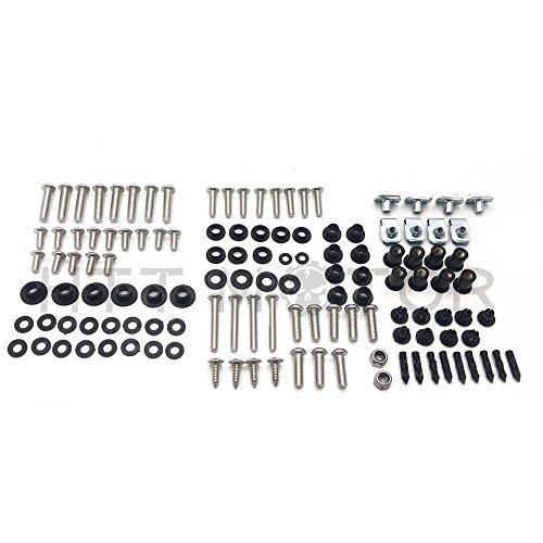 HTTMT- Complete Fairing Bolt 119 Hardware Kit Screw Washer For Honda CBR1000RR 08-12