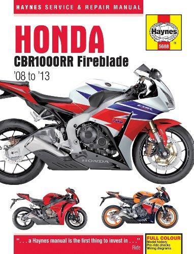 Haynes Manuals Manual Honda Cbr1000rr 08-13 M5688