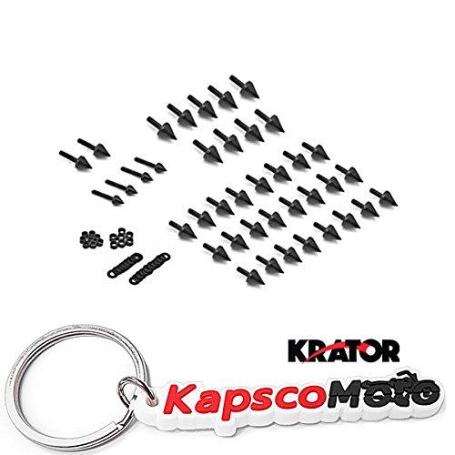 Krator 2003-2007 Yamaha R6  2006-2010 R6S Black Spike Fairing Bolts Screw Kit 04 05  KapscoMoto Keychain