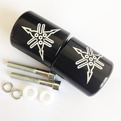 XKMT Group Motorcycle Black  Engraved Logo Hand Bar Ends For Yamaha YZF R6 2006 2007 2008 2009 2010 2011 2012 not R6SYamaha YZF R1 1998-2012Yamaha FJR-1300 2003-2010