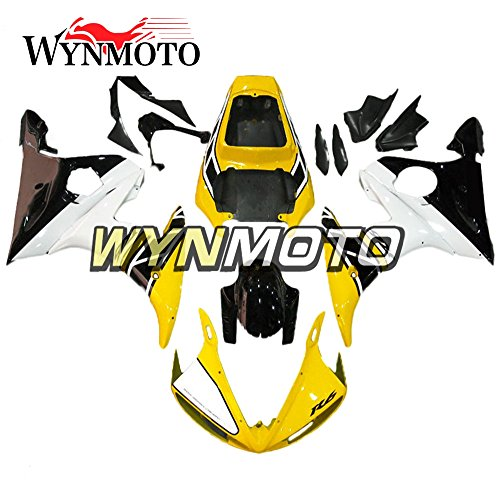WYNMOTO ABS Injection Yellow White Black Complete Motorcycle Fairings For Yamaha R6 YZF-R6 2005 Cowlings