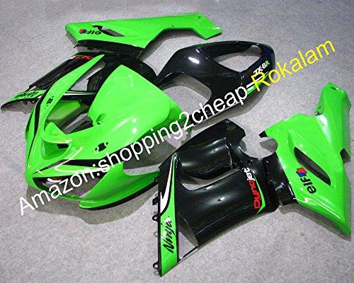 Hot Salesfairing kit For Kawasaki Ninja ZX6R 636 05 06 ZX-6R 2005 2006 ZX 6R Green Black fairings kits Injection molding