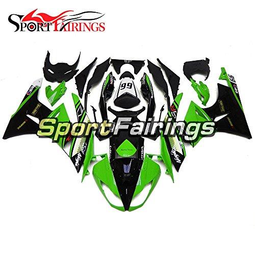 Sportfairings Dark Green Motorcycle Fairing Kits For Kawasaki ZX6R Ninja636 Year 2009 2010 2011 2012 Plastics Injection ABS Cowling Motorbike Bodywork