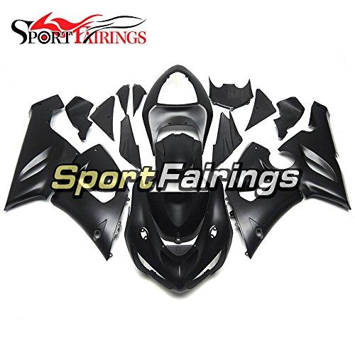 Sportfairings Flat Black Motorcycle Fairing Kits For Kawasaki ZX6R Ninja636 Year 2005 2006 ABS Plastics Injection Bodywork Motorbike Cowling