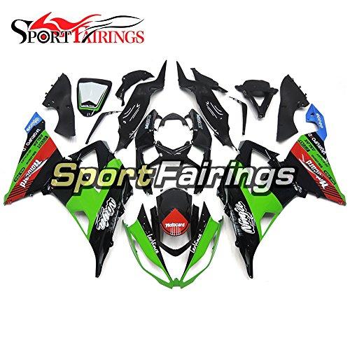 Sportfairings Green Gloss Black Motorcycle Fairing Kits For Kawasaki ZX6R Ninja636 Year 2013 - 2016 13 14 15 16 Injection ABS Plastics Cowling Bodywork