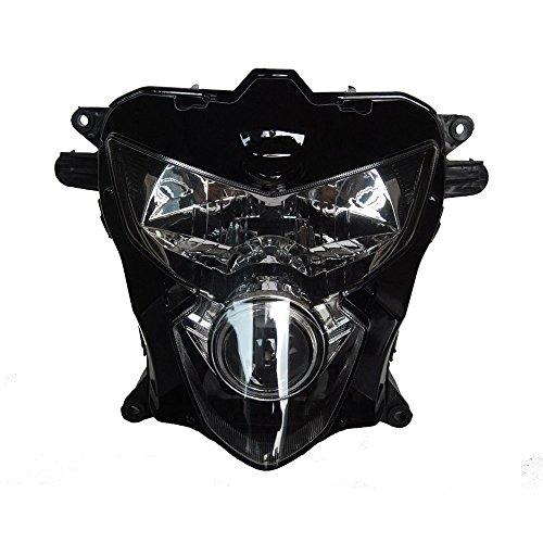 GZYF Motorcycle HeadLight For Suzuki 04 05 GSXR 600 750 K4 Clear Head Light Black